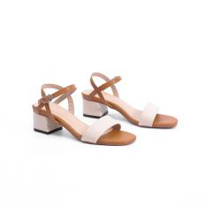 Giày Sandal Cao Gót 3cm Mix Màu X476