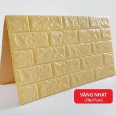 Combo 5 tấm xốp dán tường 3D giả gạch – Chịu lực, chống nước, chống ẩm mốc – Khổ lớn 70x77cm – Có keo dán sẵn siêu dính siêu chặt