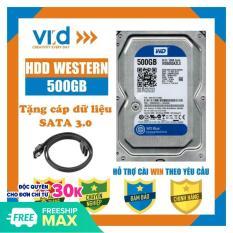 Ổ cứng HDD 500GB Western – Tặng cáp sata 3.0 – Hàng tháo máy đồng bộ nhập khẩu mới 98% – Bảo hành 1 tháng