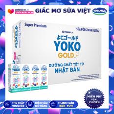 [TẶNG GỐI ÔM VOI YOKO]-Thùng 48 hộp sữa bột pha sẵn Yoko 180ml-Mới