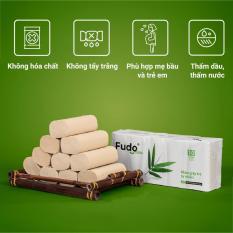Khăn giấy tre Fudo – 10 cuộn không lõi (4 lớp) – Giấy vệ sinh Fudo: 100% bột tre, không tạo mùi, không tẩy trắng