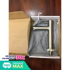 Vòi lavabo 1 đường nước lạnh dạng điếu inox 304