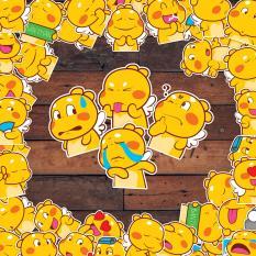 Sticker 9cm x 10cm chủ đề gấu bông Qoobee 25 cảm xúc ngộ nghĩnh chống nước dán điện thoại, laptop, xe đạp, nón bảo hiểm,…