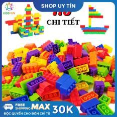 Đồ chơi trẻ em túi 110 xếp hình lego nhựa nguyên sinh an toàn nhiều màu sắc giúp trẻ từ 3 tuổi trở lên phát triển trí tưởng tượng và tư duy sáng tạo