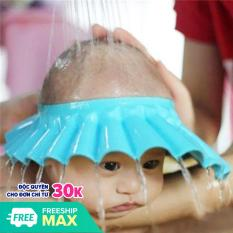 Nón tắm dành cho bé có bịt tai nút cài nhiều nấc