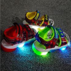 Giày xăng đan bé trai siêu nhân nhện có đèn Led từ 1 – 7tuổi