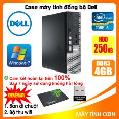 Case máy tính đồng bộ DEL CPU Dual Core E5xxx / Core i3-2100 / Ram 4GB / HDD 250GB-500GB / SSD 120GB-240GB [QUÀ TẶNG: Bộ thu wifi, bàn di chuột] DEI32 – LOZ