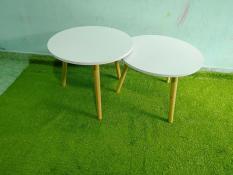 PK-cặp bàn tròn trắng lớn 60-60