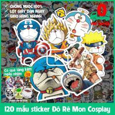 120 mẫu sticker hình dán chủ đề Đôrêmon (Doraemon) cosplay chống nước dán điện thoại, laptop, xe đạp, nón bảo hiểm,…