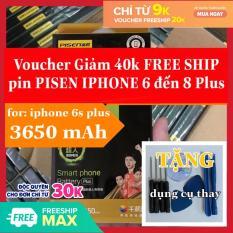 [Chính Hãng] pin iphone 6s plus pisen 3650mAh, pin ip 6s plus, pin iphone 6s plus, pin pisen 6s plus, pin iphone 6s p [sảm phẩm có sẵn siu dán pin + dụng cụ thay pin]
