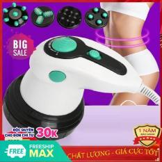 Máy massage cầm tay Body Innovation – 4 đầu massage, 6 cường độ, chế độ rung lắc thư giãn, giảm mỡ hiệu quả – Matxa quý bà, Đánh tan mỡ bụng – Bảo Hành 12 tháng – BAMBOO