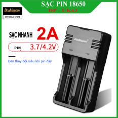 Bộ sạc pin 18650 tự ngắt báo đèn khi đầy Doublepow DP – UK65 (sạc được pin 3,7V – 18650, 16340, 14500, 26650…) – Bảo hành chính hãng
