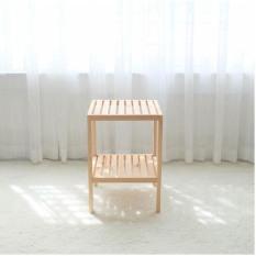 Kệ gỗ tab đầu giường 2 tầng tự lắp ráp Tâm House KT002 – gỗ thông tự nhiên