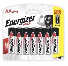 Pin Energizer Alkaline Max AA E91 8 tặng 4