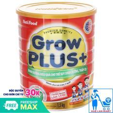 Sữa Bột Nutifood Grow Plus+ Đỏ Hộp 1,5kg (Dinh dưỡng hiệu quả cho trẻ suy dinh dưỡng, thấp còi từ 1~10 tuổi)