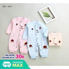 Body Gấu cho bé gái, trai chất liệu cotton mềm mịn cao cấp (4-9kg)
