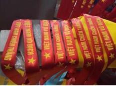 Bộ 2 dải khăn cổ động- băng rôn viêt nam vô địch- chiến thắng
