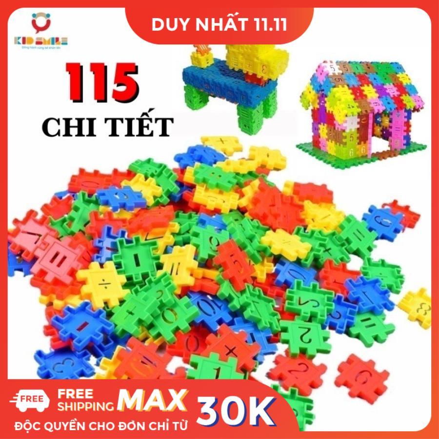 Báo giá Đồ chơi trẻ em túi 115 tấm xếp hình nhựa nguyên sinh an toàn nhiều  màu sắc giúp trẻ từ 3 tuổi trở lên phát triển trí tưởng tượng và