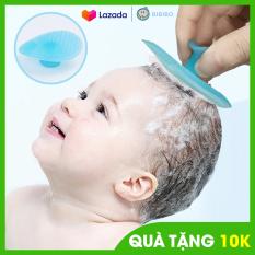 Bông tắm gội silicon BILA cho bé, mềm mại làm sạch, tạo nhiều bọt, an toàn không gây đau cho bé
