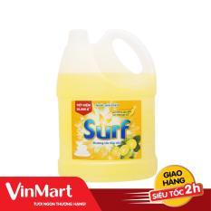 [Siêu thị VinMart] – Nước rửa chén Surf hương tắc can 4kg