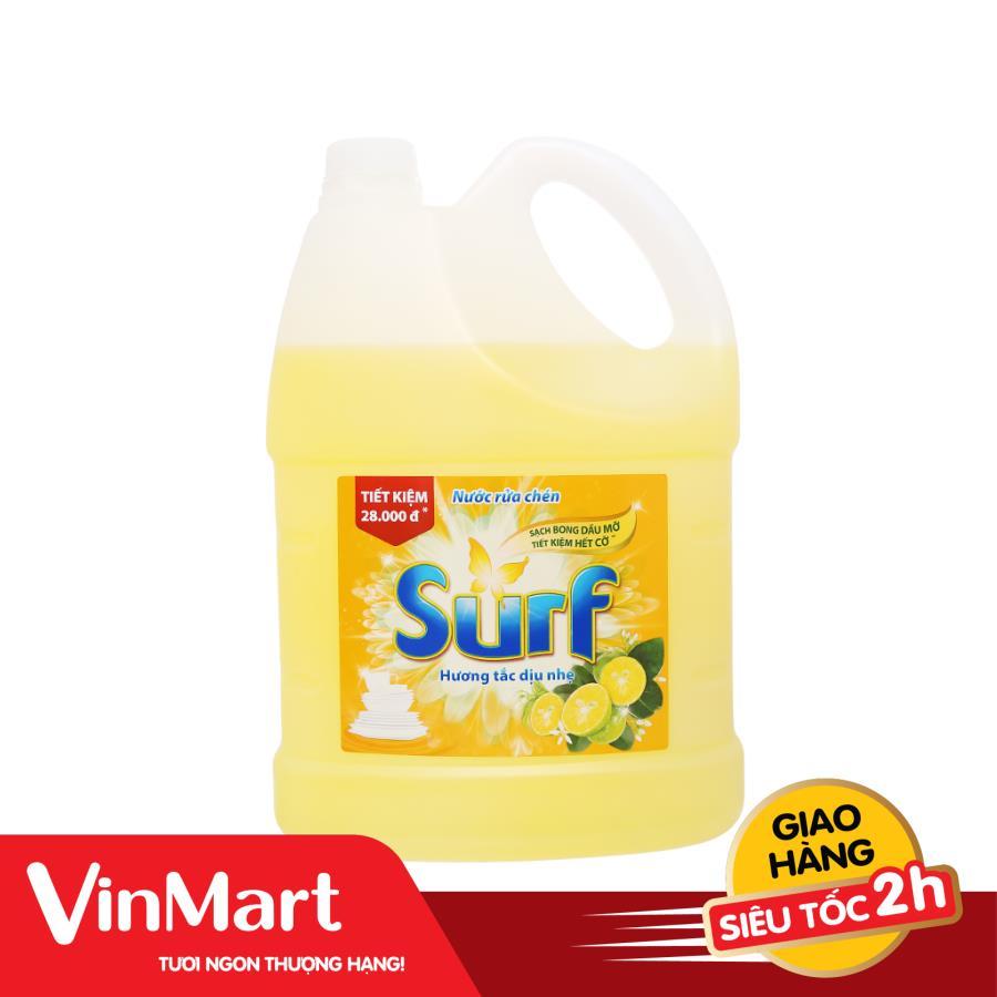 [Siêu thị VinMart] - Nước rửa chén Surf hương tắc can 4kg