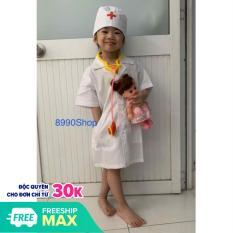 Đồ Hoá Trang Áo Bác Sĩ Cho Bé Tập Làm Bác Sĩ Size 5 – 6 Tuôỉ