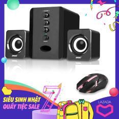 Bộ Loa Máy Tính USB 2.1 SADA D-202 + Tặng Chuột Chơi Game Led Morose
