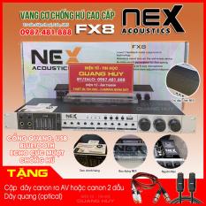 Vang Nex FX8 – Vang nhại hay, chống hú tốt, kết nối bluetooth, cổng quang, USB Mới 100%, bảo hành 12 tháng.