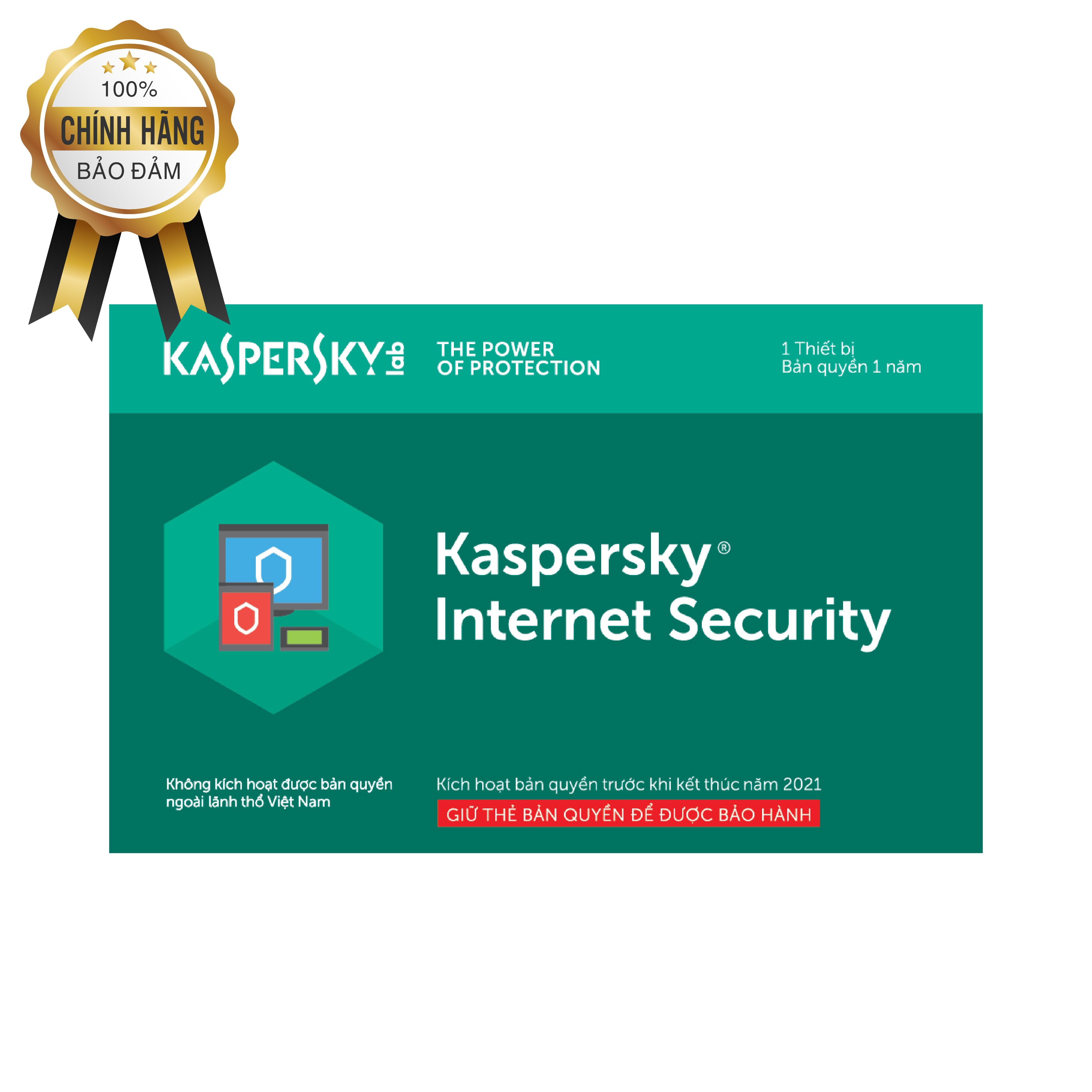 Kaspersky Internet Security for Android 1 thiết bị/năm (Thẻ cào)- BH 12T