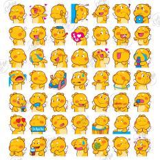 50 mẫu sticker hình dán chủ đề gấu bông Qoobee Agapi chống nước dán điện thoại, laptop, xe đạp, nón bảo hiểm,…
