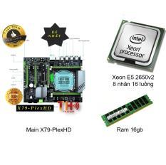 Combo Main X79 + Cpu Xeon E5 2650v2, E5 2689v1, E5 2690v1 + Ram 16gb ( 8 nhân 16 luồng Tương đương i7 8700 )