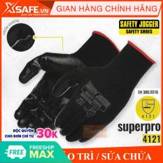 Găng tay bảo hộ lao động Jogger Superpro – phủ nitrile chống dầu nhớt, tăng độ bám, linh hoạt cao, bao tay bảo hộ chuyên dụng thao tác kỹ thuật, găng tay cơ khí, bảo trì, sửa chữa [XSAFE]