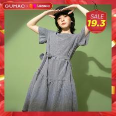 Đầm váy GUMAC thiết kế babydoll dây eo DB1133