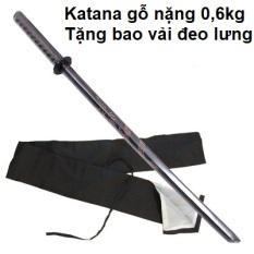 Kiếm nhật katana làm bằng gỗ cứng dài 1m dùng để tập võ, tập thể lực, luyện kiếm, trưng bày đồ phong thủy hoặc cosplay nhân vật anime,Tặng kèm giá đỡ ,đổi trả miễn phí.