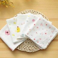 Combo 10 Khăn sữa xô sợi tre xuất Nhật in hoa cho bé sơ sinh