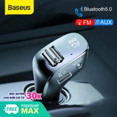 Tẩu sạc nhanh 15W xho xe hơi Baseus Streamer F40 AUX/FM Wireless MP3 Car Charger (3A, 2 Port, Bluetooth 5.0, Lossless Sound Effects, LED, AUX/FM Transmiter)
