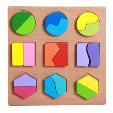 [Lấy mã giảm thêm 30%]Đồ chơi bằng gỗ cho bé-Xếp Hình Toán Học 20x20x1.5 cm