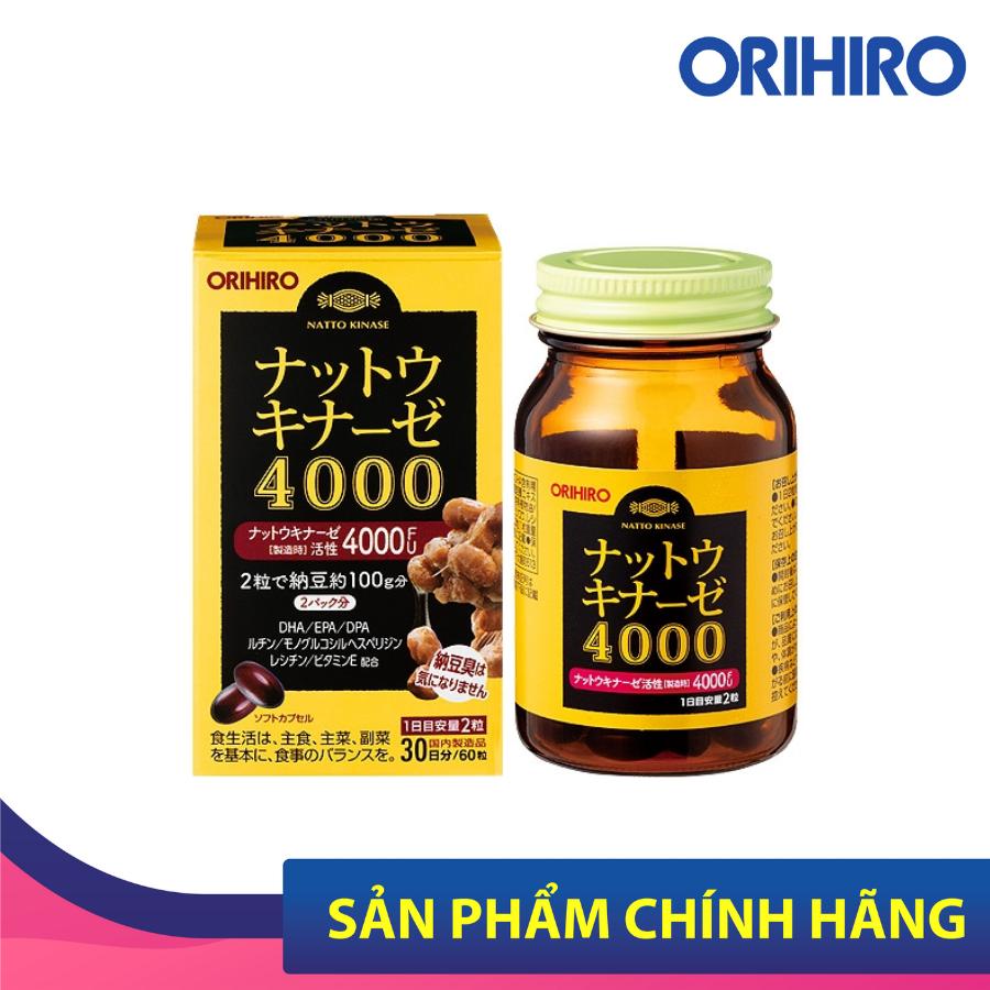Viên uống hỗ trợ ngăn ngừa đột quỵ 4000 FU Orihiro 60 viên