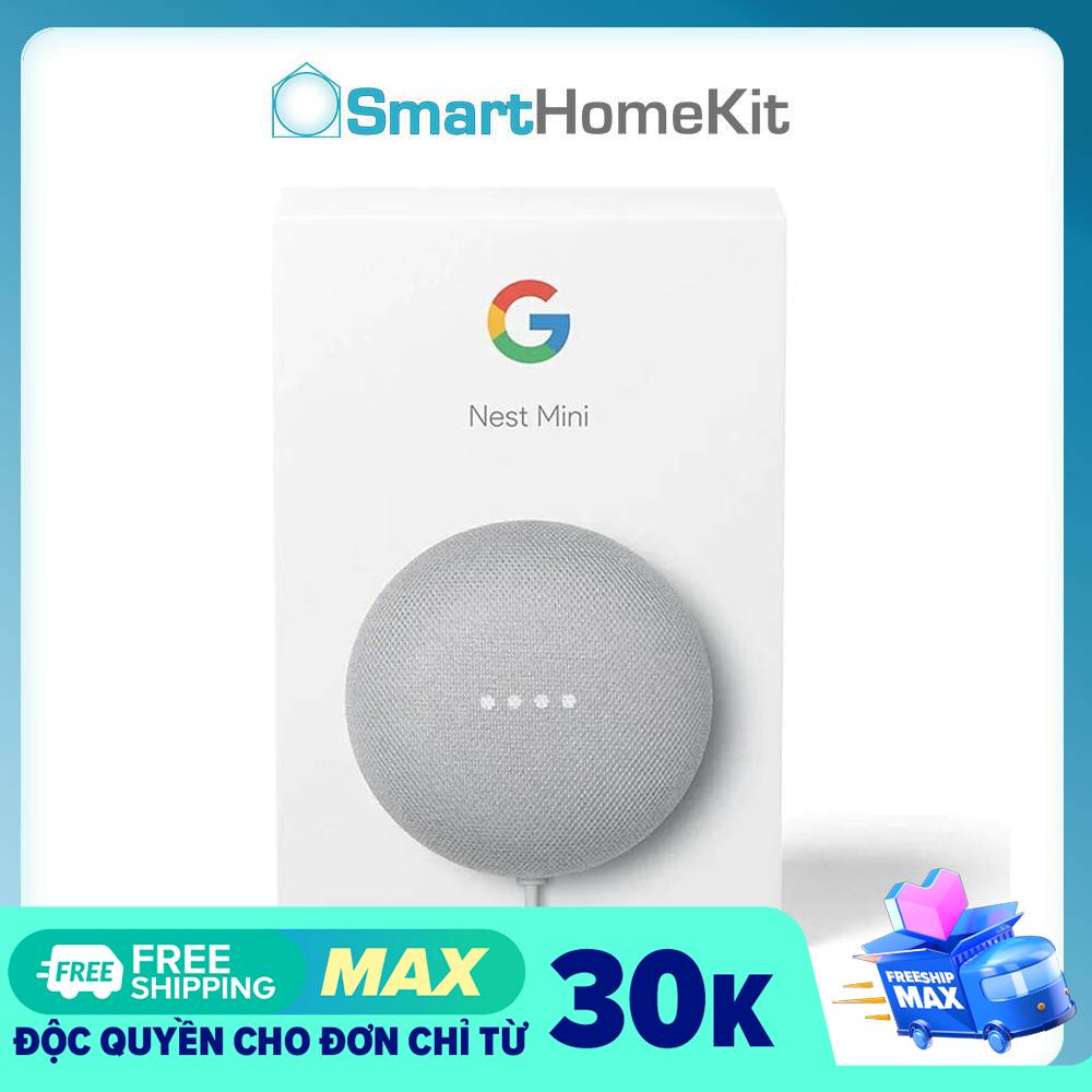 Loa thông minh Google Nest Mini thế hệ 2 – Bass mạnh, âm thanh hay hơn   Nguyên Box   Full Seal