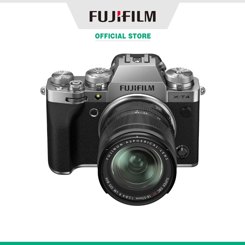 Máy ảnh kỹ thuật số Fujifilm X-T4/XF1855 (Đen/Bạc)