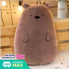 Gấu Bông Ôm Hình Thú Tròn Siêu Mềm Mịn Ngộ Nghĩnh (2 Size)