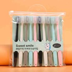 Raffer Set 10 bản chải đánh răng Macaron Hàn Quốc – Mềm mại kháng khuẩn nhỏ gọn dễ dàng mang theo RF039