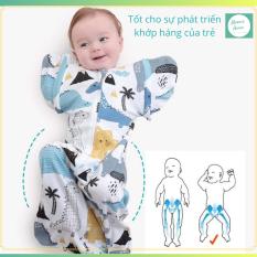 Nhộng chũn cho bé – Túi ngủ trẻ em giúp bé ngủ ngon, sâu giấc (Tặng kèm tay dài thay thế)