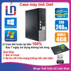 Case máy tính DEL CPU Dual Core E5xxx / Core i7-2600 / Ram 4GB / HDD 250GB-500GB / SSD 120GB-240GB [QUÀ TẶNG: Bộ thu wifi, bàn di chuột]