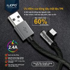 Cáp Sạc MICROUSB 2.4A (Powerline) 1m2 Dành Cho Game Thủ Với Dây Bọc nhựa TPE cao cấp iLEPO iL08 Micro