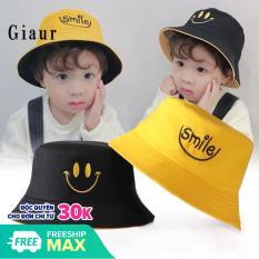 Mũ bucket 2 mặt rộng vành cho bé(4-10 tuổi)