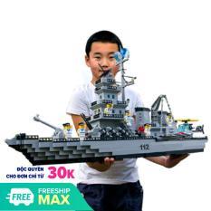 Bộ đồ chơi lắp ráp kiểu lego mô hình chiến hạm khổng lồ 112