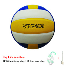 Bóng Chuyền Da Thăng Long VB7400 + Túi Lưới Đựng Bóng + Kim Bơm Bóng
