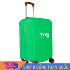 [MIỄN PHÍ SHIP] Áo trùm vali du lịch TRIP vải dù chống thấm – Áo bọc TRIP vảo vệ vali chống thấm nước