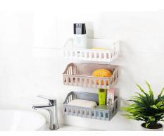 Bộ kệ 3 màu bằng nhựa để đồ nhà tắm, nhà bếp với miếng dán chịu lực siêu tốt